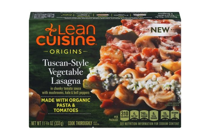 LEAN CUISINE ORIGINS Tuscan-Style Vegetable Lasagna – Frozen Meal with 15g of Protein, Made with Organic Ingredients, No Artificial Colors, Flavors or Preservatives, 11.75 oz. Box