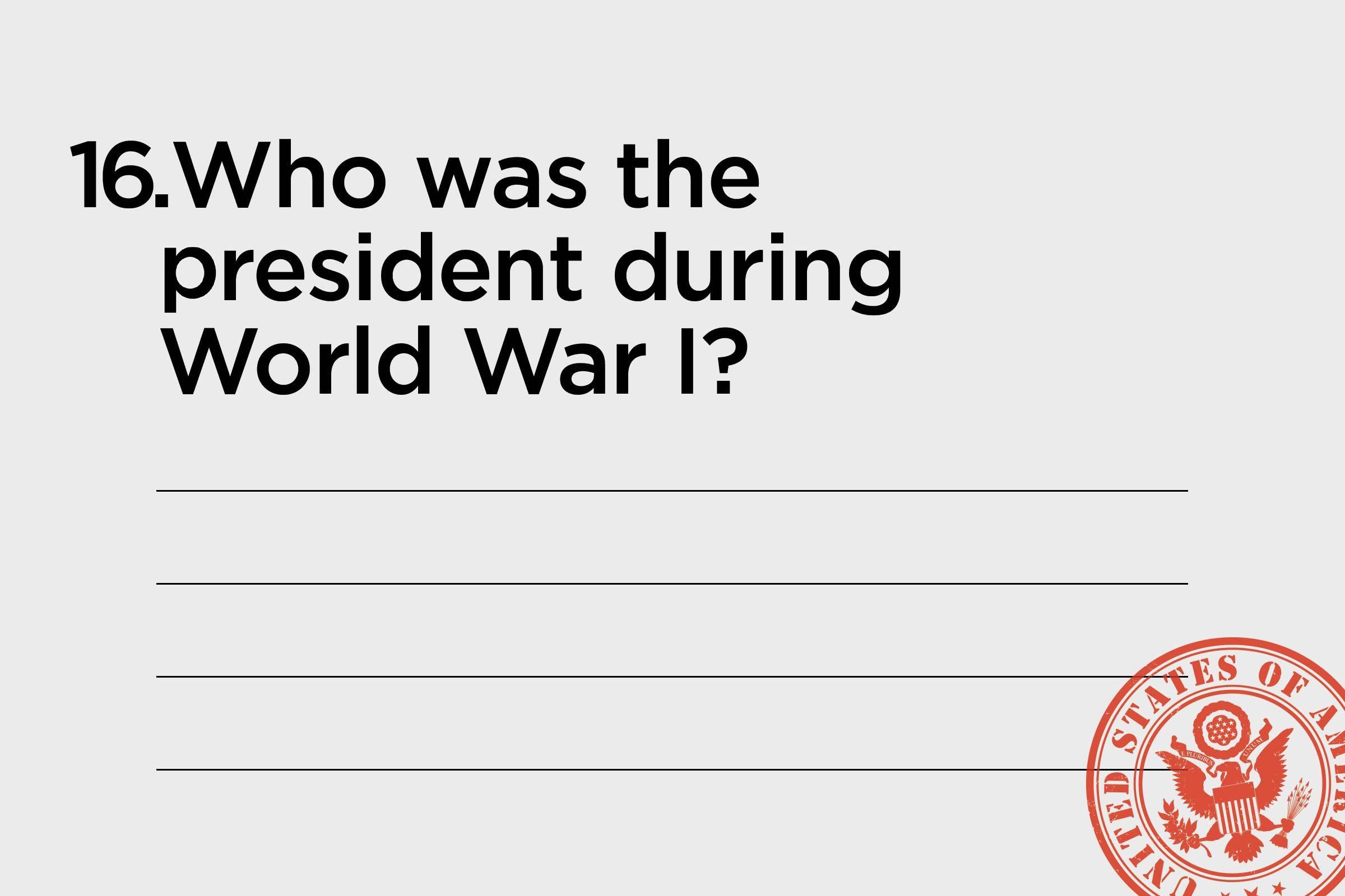 WWI president