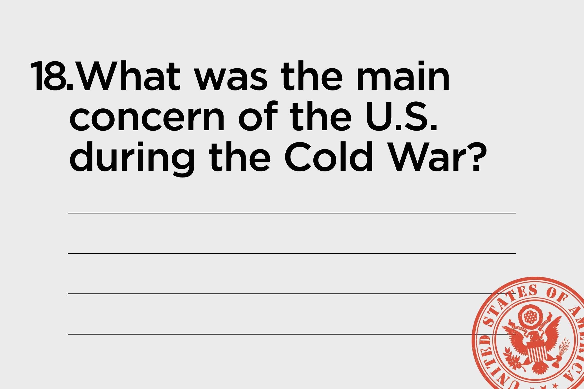 main concern during cold war