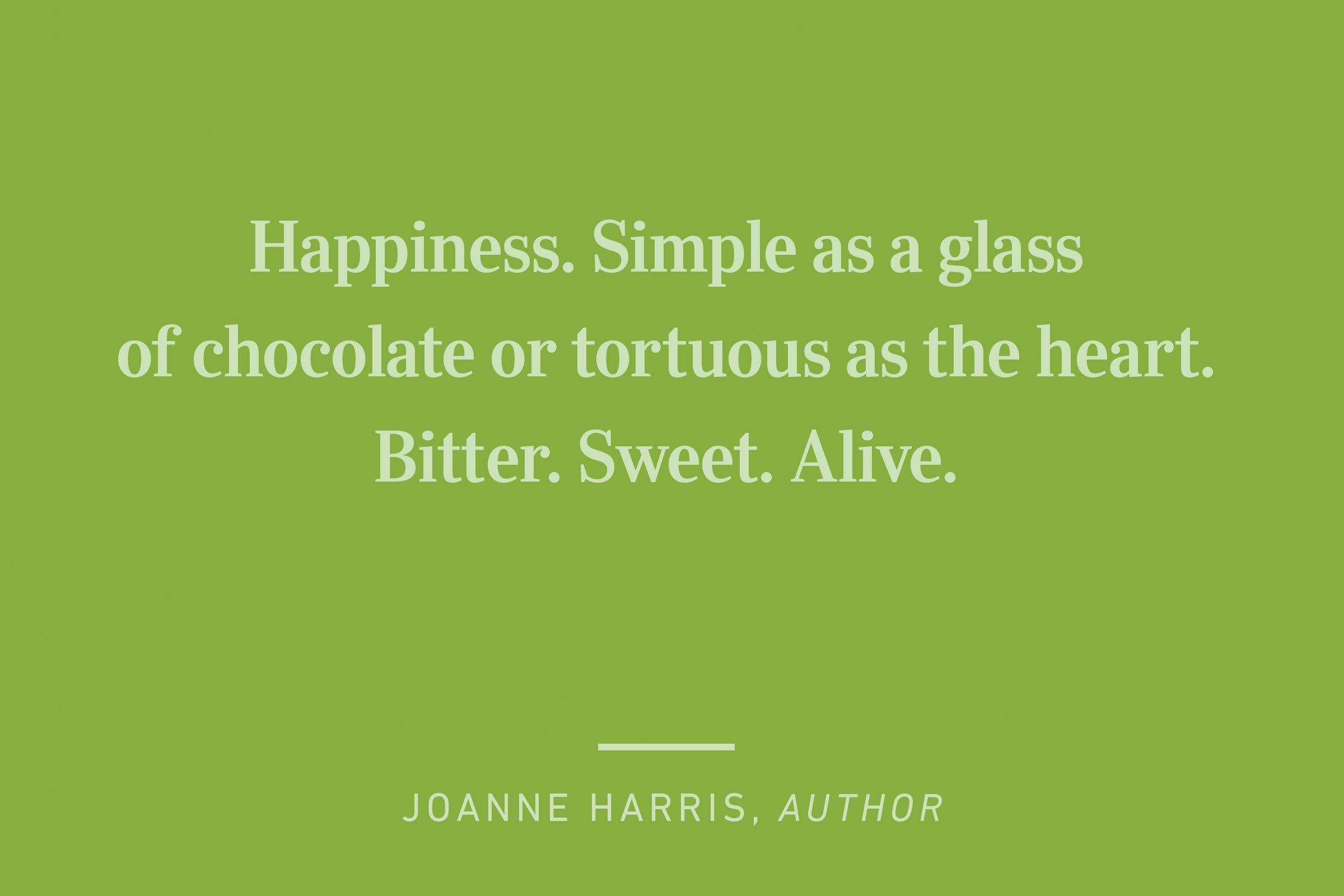 joanne harris happiness quote