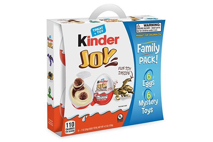 Kinder Joy Chocolate Candy Eggs with Surprise Toy Inside, Easter Basket Stuffers, 6 Count