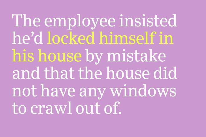 locked himself in the house