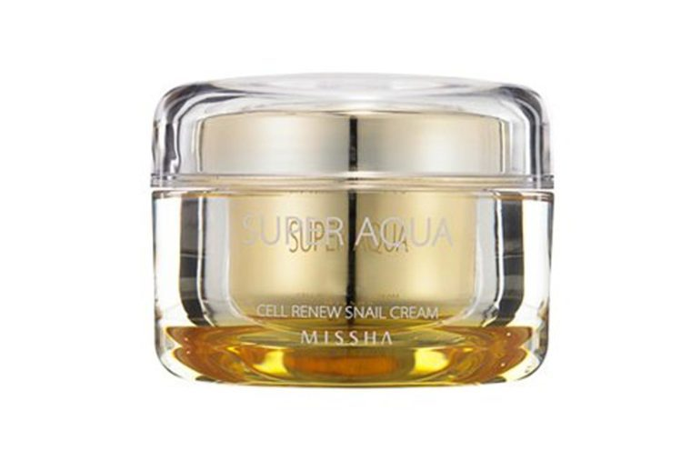 MISSHA Super Aqua Cell Renew Snail Cream, Face Moisturizer, 1.7 Oz
