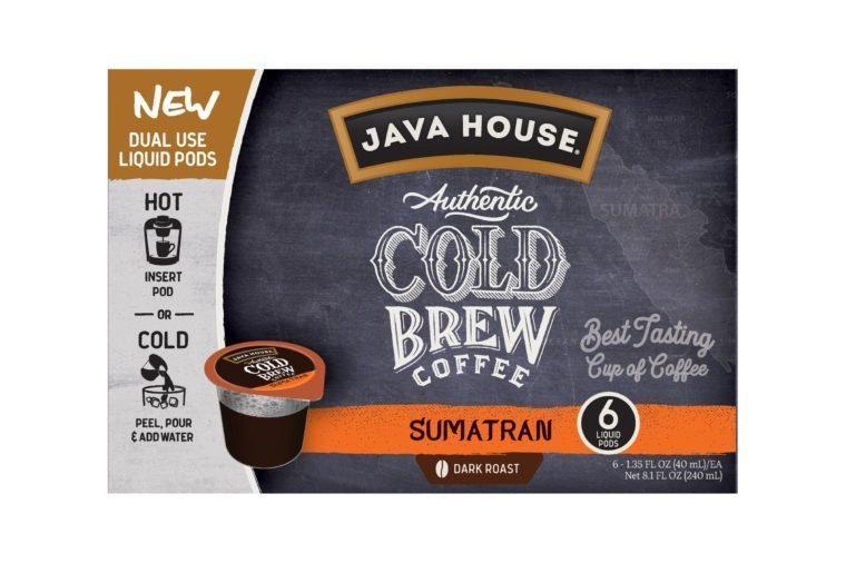 Java House Cold Brew Coffee Pods, Sumatran, 6 Count