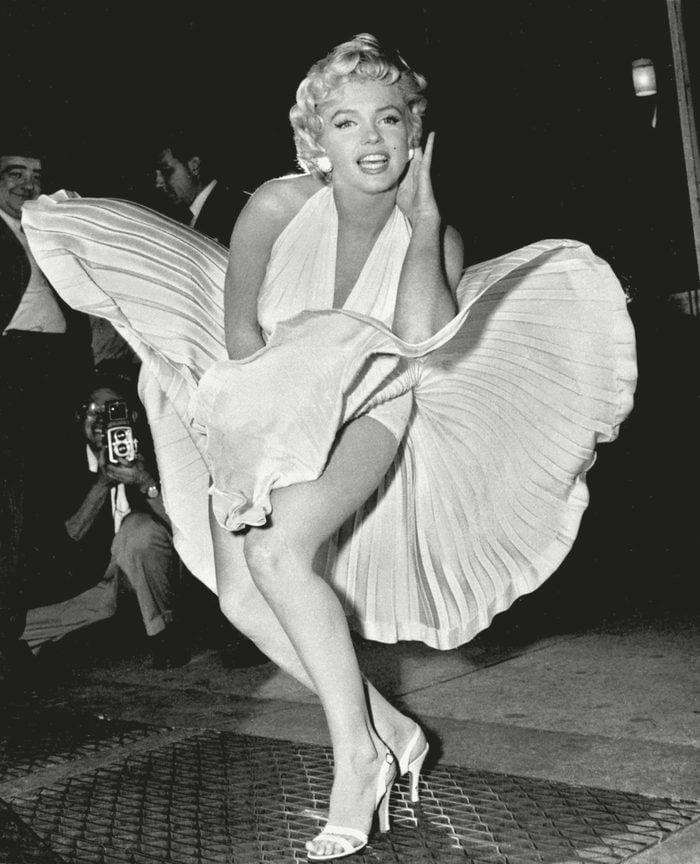 Marilyn Monroe poses over the updraft