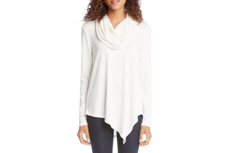 Karen Kane Asymmetrical Cowlneck Sweater