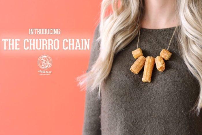El Pollo Loco churro chain april fools prank