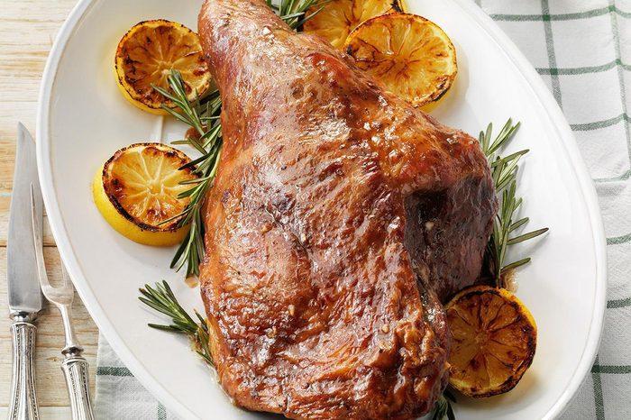 Plum-Glazed Ham
