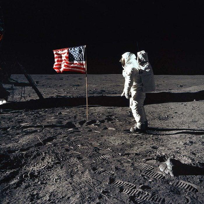 The Moon - Astronaut Edwin 'Buzz' Aldrin