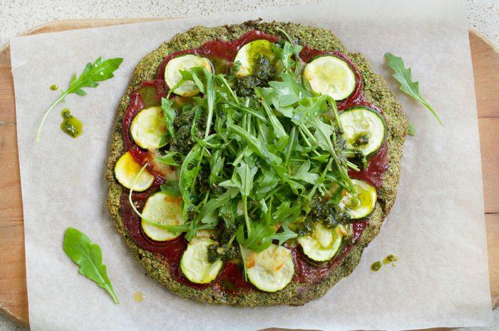 super greens pizza
