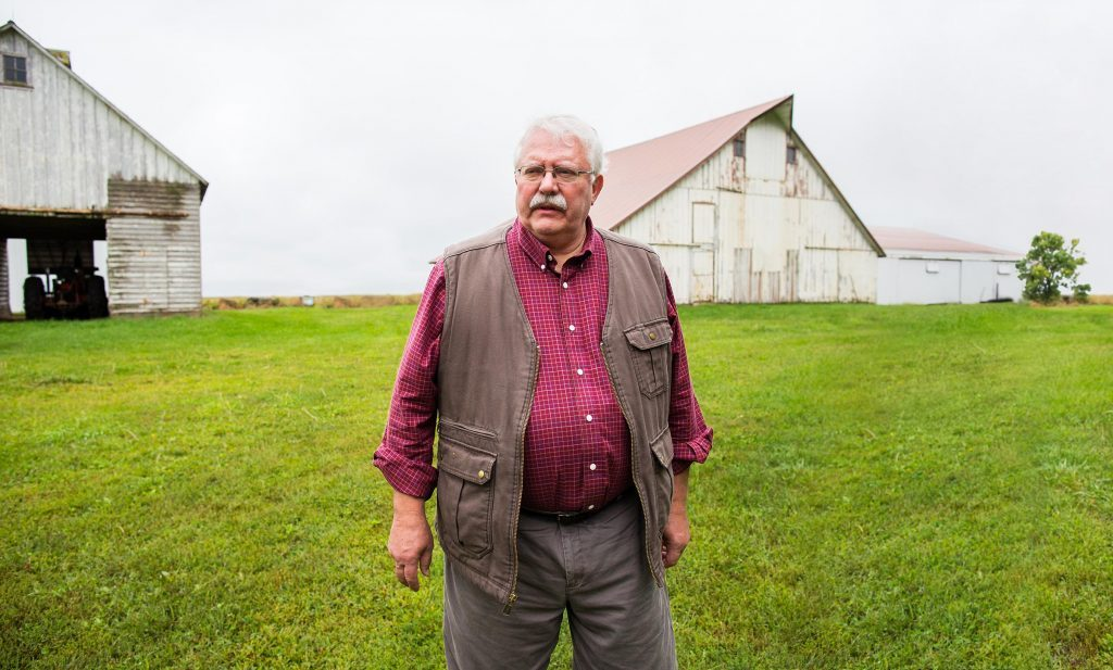 When the 1980s farm crisis hit, Mike Rosmann moved home to Harlan, Iowa, near the farm where he grew up.