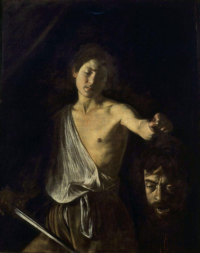 Art (Paintings) - various David with head of Goliath (Michelangelo Merisi da Caravaggio)