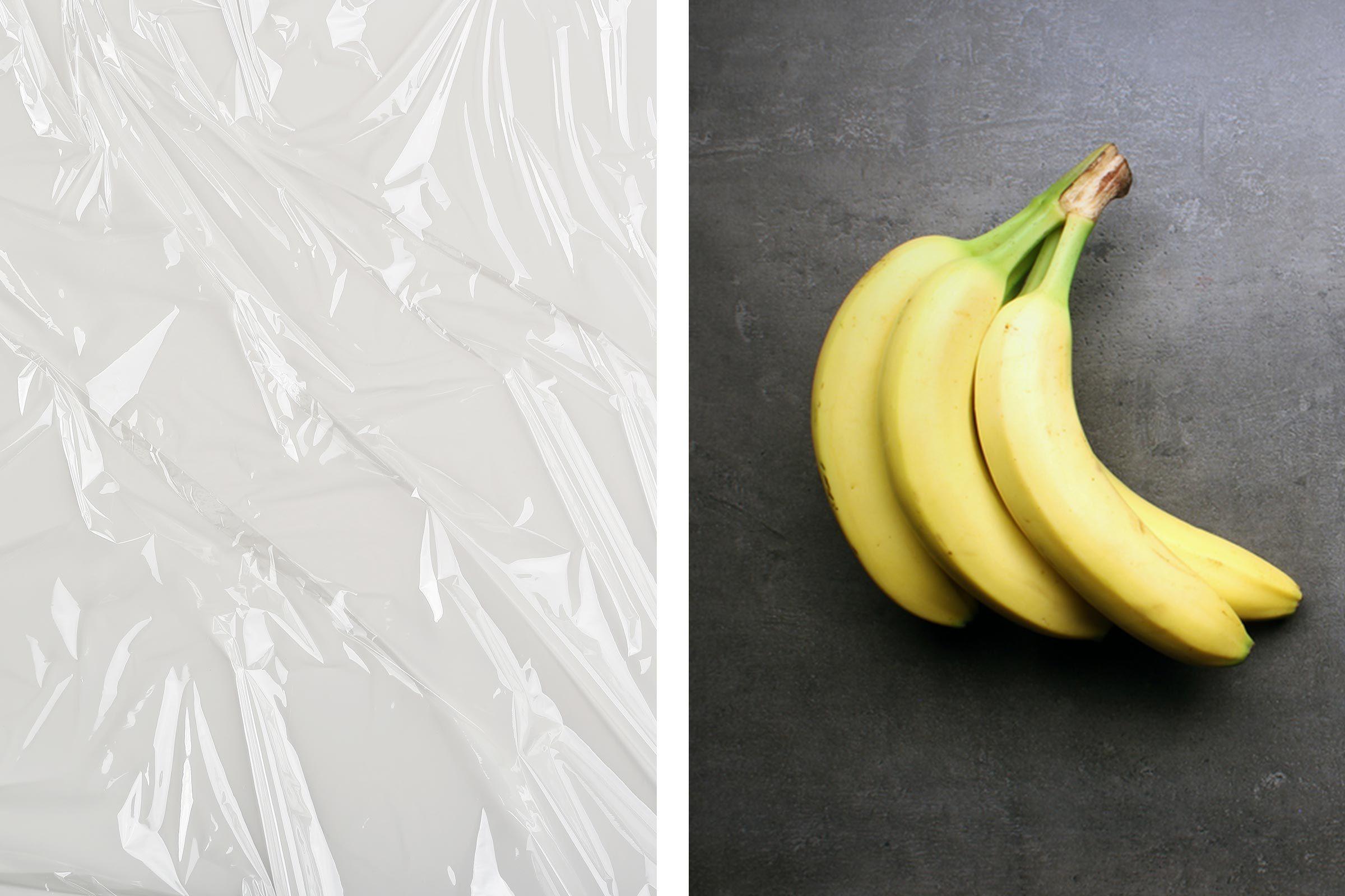plastic wrap bananas