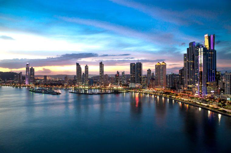 Beautiful view of Panama City - Cinta Costera.