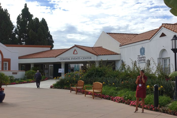 Carlsbad, CA / USA - October 1, 2018: Exterior of the Coastal Events Center and Chopra Center at the Omni La Costa Resort and Spa
