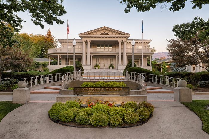 CARSON CITY, NEVADA - AUGUST 14: Entrance to the Nevada Governor's Mansion on August 14, 2013 in Carson City, Nevada