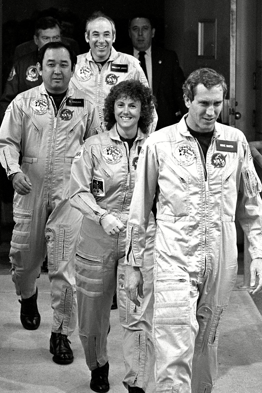 Four crew members