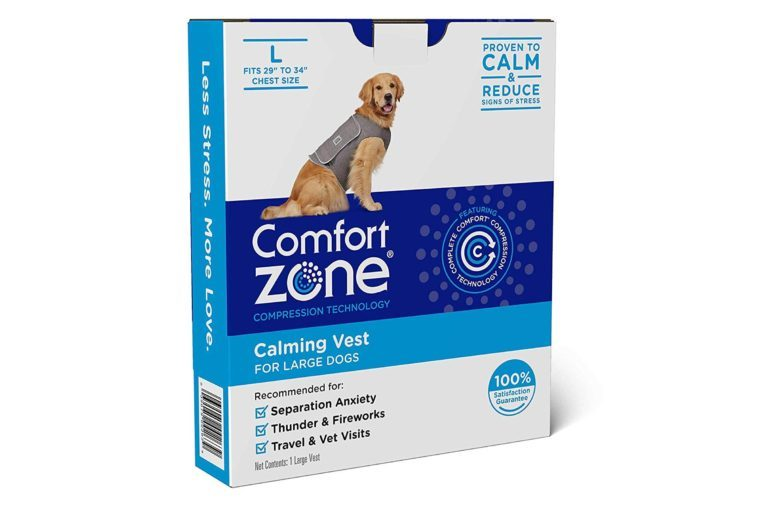 "Comfort Zone Calming Vests for Dogs, for Thunder and Anxiety, Large (29-34"" Chest)"