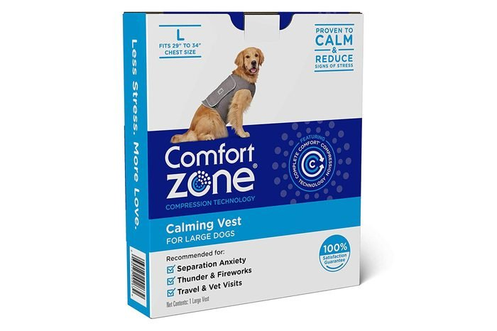 """Comfort Zone Calming Vests for Dogs, for Thunder and Anxiety, Large (29-34"""" Chest)"""