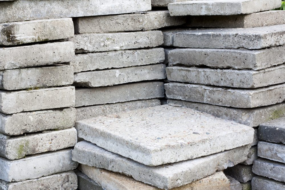 Pile of paving slabs background concept
