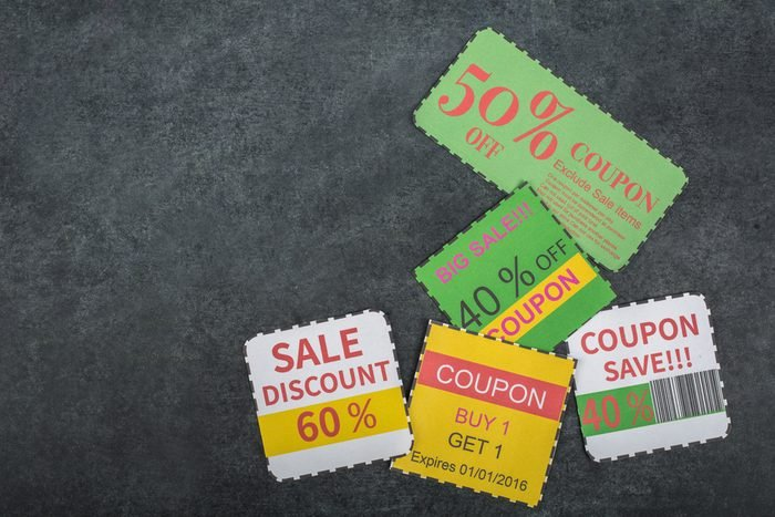 Coupon voucher for exchange and save your money concept.