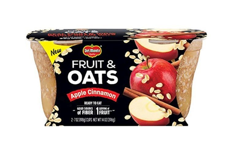 Del Monte Fruit & Oats Snack Cups, Apple Cinnamon, 7-ounce cups, 2-Pack
