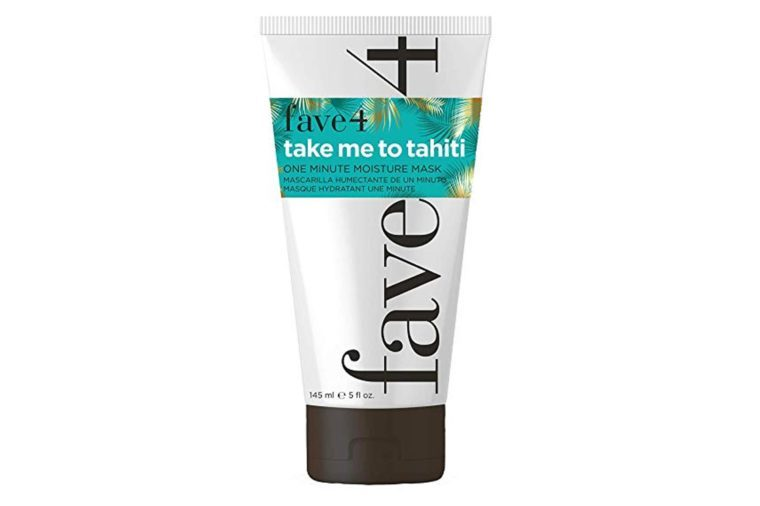 fave4 Take Me To Tahiti - One Minute Moisture Mask -Restores Deep Moisture & Shine to Repair Dry, Dull Hair- Sulfate Free| Paraben Free| Gluten Free| Cruelty Free| Safe for Color Treated Hair, 5 oz