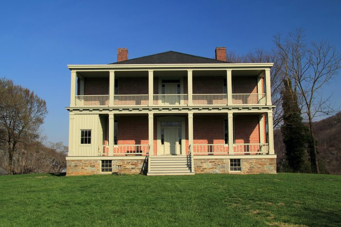HARPERS FERRY, VW - APRIL 13: The Lockwood House, built in 1848, served numerous purposes during the American Civil War and later became a school for former slaves April 4, 2018 in Harpers Ferry, WV