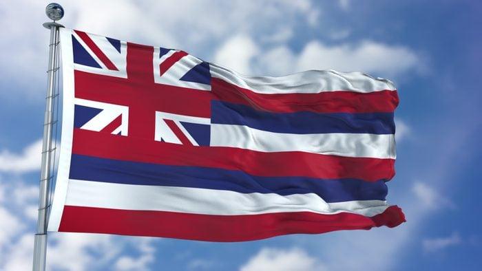 Hawaii Waving Flag