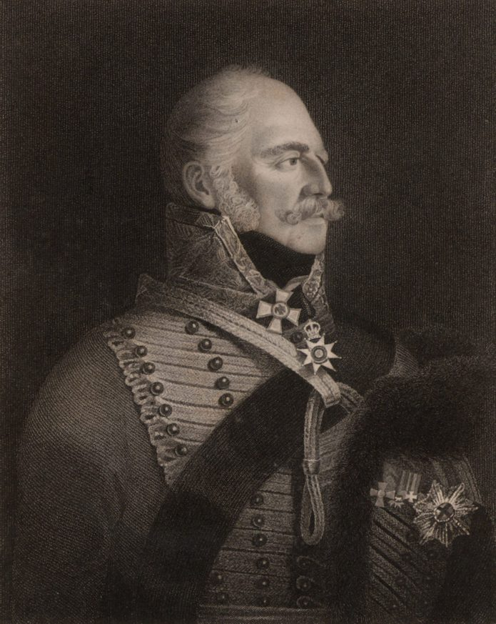 History Ernest Augustus, Duke of Cumberland and King of Hanover (1771-1851), Fifth son of George III of Great Britain. On the death of William IV, Victoria succeeded in Britain but the Hanoverian succession was subject to Salic Law. As William IV's male heir, he became king of Hanover as Ernest Augustus I. Engraving.