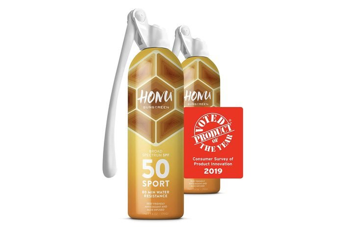Honu Sunscreen Superior Sun Protection by Starco Brands - With Patented Spray Wand Technology and Broad Spectrum SPF 50 Allows Sunscreen Coverage to all Hard to Reach Spots (2-Pack)