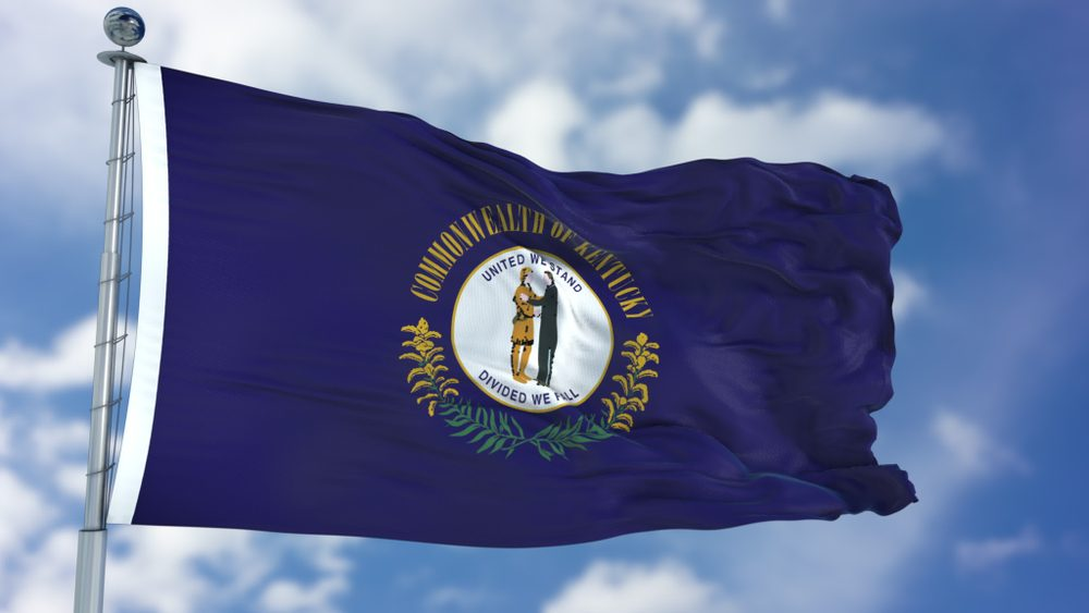 Kentucky Waving Flag