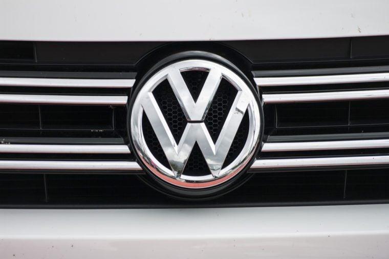 La Nucia, Spain - 1 november 2015, detail logo of car brand Volkswagen