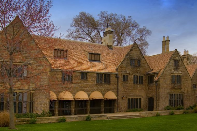Large Panoramic Michigan Dearborn Edsel & Eleanor Ford House Greenfield Village Cotswold Cottage