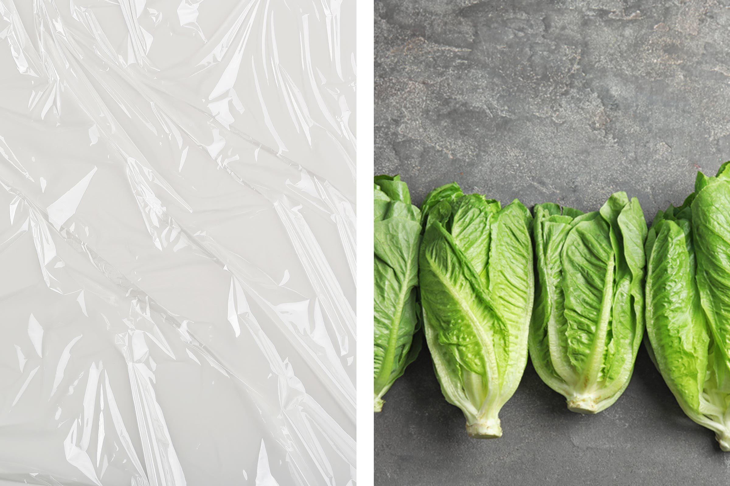plastic wrap lettuce