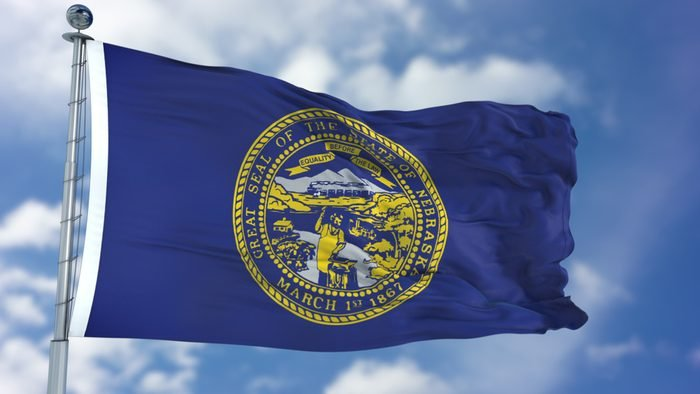 Nebraska Waving Flag