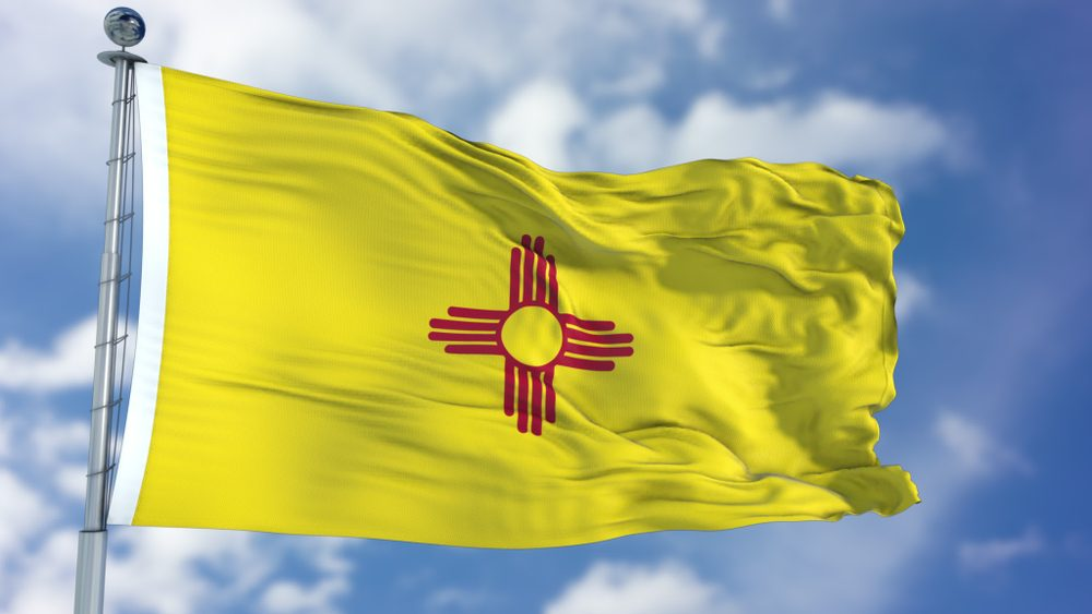 New Mexico Waving Flag