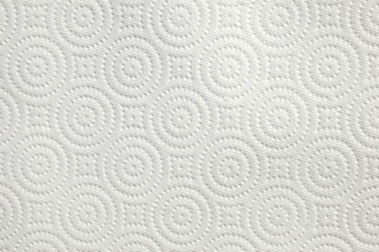 Background Texture of a Paper Towel with Circles and Squares