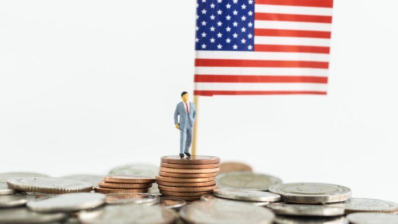 president money us flag coins miniature