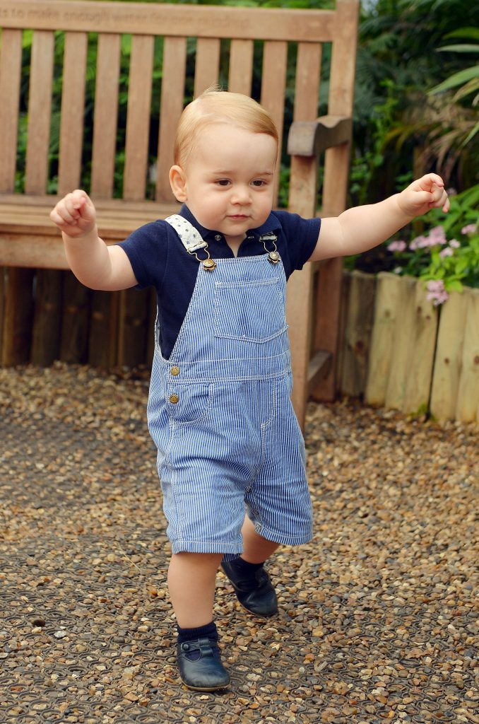 Prince George picture released to mark first birthday, London, Britain - 02 Jul 2014
