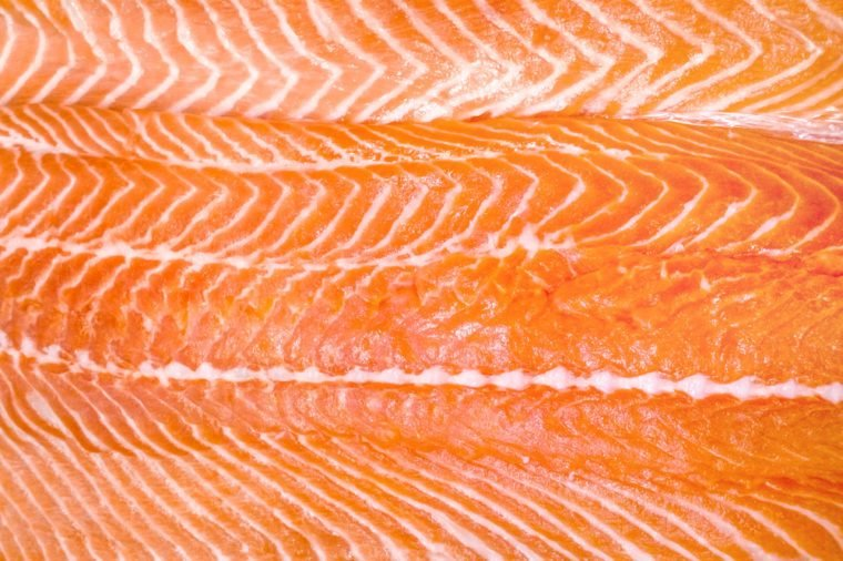raw fish salmon fillet close-up