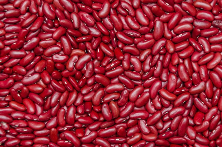 red beans as background
