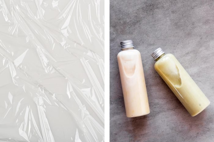 plastic wrap shampoo