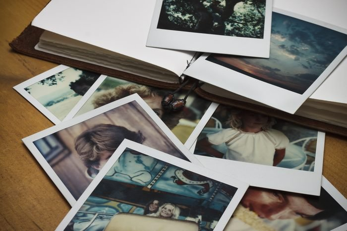 Old pictures and a journal.