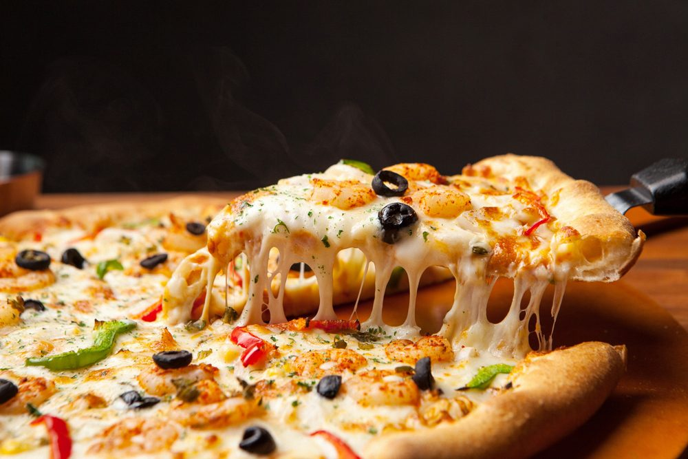 delicious shrimp pizza