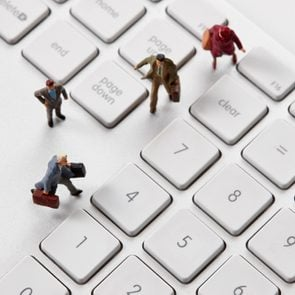 Personal computer and miniature people