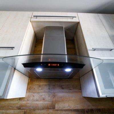 Range Hood in the kitchen interior.