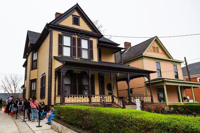 February 23, 2018. Birth Home of Martin Luther King, Jr. Martin Luther King Jr. National Historic Site and Preservation District. Atlanta, Georgia, USA.