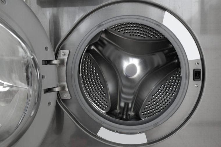 Inside of the washing machine drum .