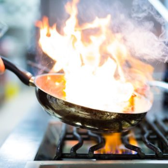 How to Put out a Grease Fire—No, Water Won't Work